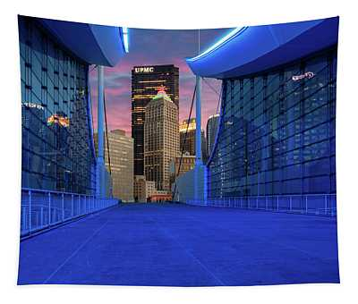 Pittsburgh In Blue  Tapestry