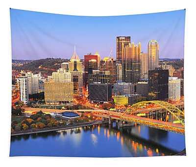 Pittsburgh Pano 22 Tapestry