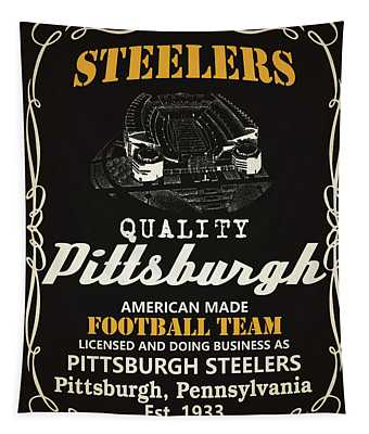 Pittsburgh Steelers Whiskey Tapestry