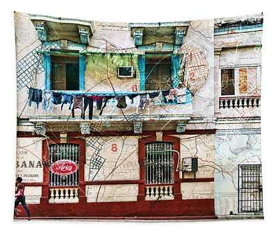 Plano De La Habana Tapestry