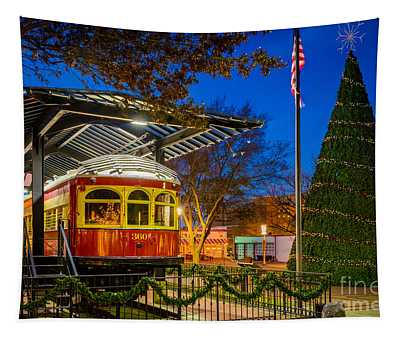 Plano Trolley Car Tapestry