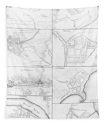 Plans Of The Principle Towers, Forts And Harbors In Ireland  Tapestry