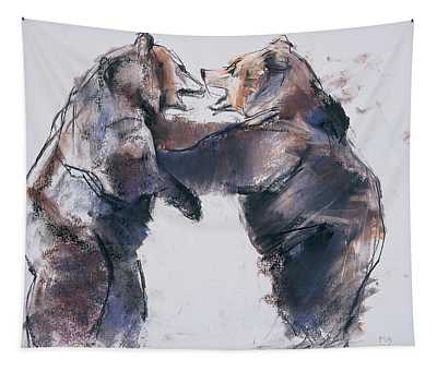 Play Fight Tapestry