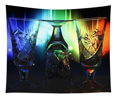 Play Of Glass And Colors Tapestry