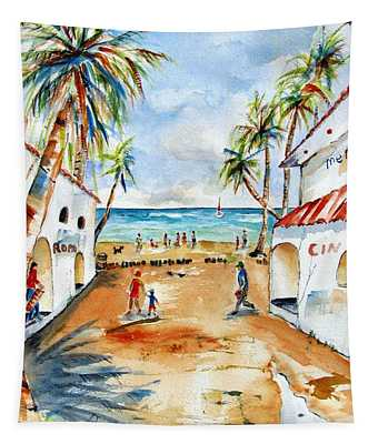 Playa Del Carmen Tapestry