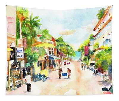 Playa Del Carmen Mexico Shops Tapestry