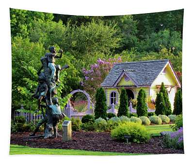 Playhouse In The Garden Tapestry
