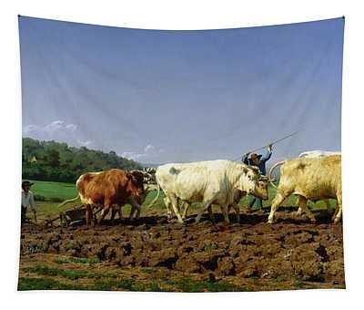 Ploughing In Nivernais Tapestry