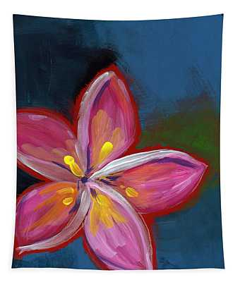 Plumeria- Art By Linda Woods Tapestry