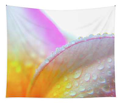 Plumeria Droplets Tapestry