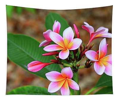 Plumeria Flower Art - Tropical Queen - Sharon Cummings Tapestry