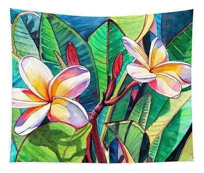 Plumeria Garden Tapestry