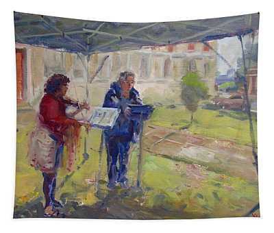 Poetry And Violin Tapestry