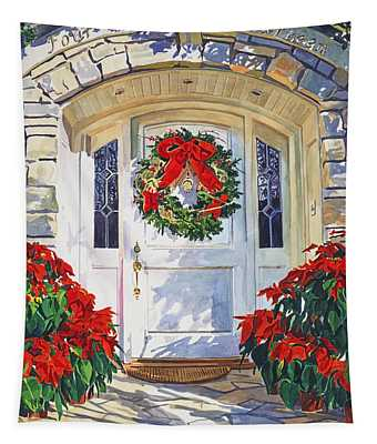 Pointsettia House Tapestry