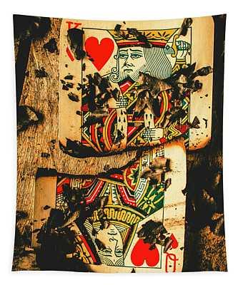 Poker War Revolt Tapestry