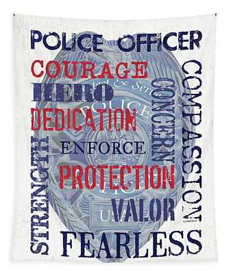 Police Inspirational 1 Tapestry
