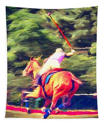 Polo Game 2 Tapestry