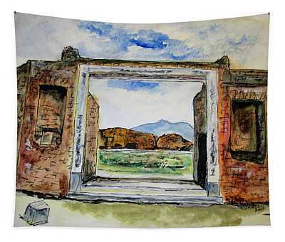 Pompeii Doorway Tapestry