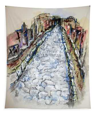 Pompeii Road Tapestry