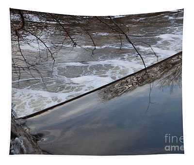 Pompton Spillway From Above Tapestry