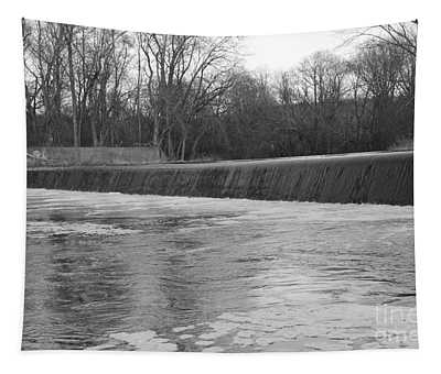Pompton Spillway In January Tapestry
