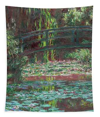 The Bridge Over The Waterlily Pond 1900 Tapestry