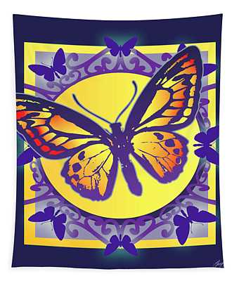 Pop Art Butterfly Tapestry