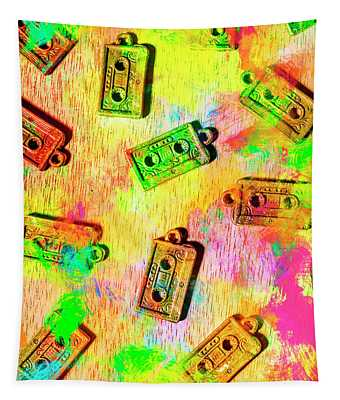 Pop Art Mix Tapes Tapestry