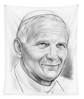 Pope Saint John Paul II Tapestry