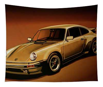Porsche 911 Turbo 1976 Painting Tapestry