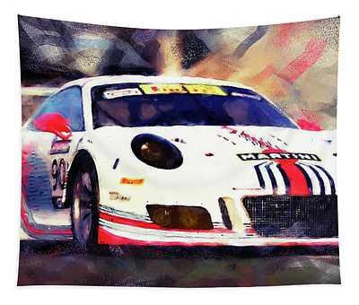 Porsche Gt3 Martini Racing - 04 Tapestry by Andrea Mazzocchetti