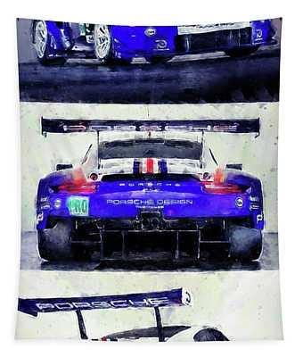 Porsche Rsr Le Mans 2018 - 02 Tapestry