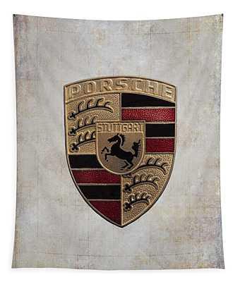 Porsche Shield Tapestry