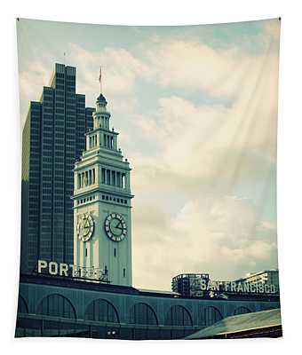 Port Of San Francisco Tapestry