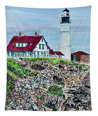 Portland Headlight, Maine Tapestry