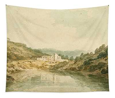 Porto Paone A Bay In The Island Of Nisida Near Naples Tapestry