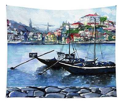 Porto Rabelo Boats Tapestry