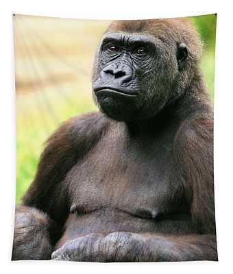 Portrait Of A Gorilla Tapestry