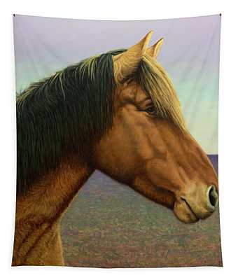 Portrait Of A Horse Tapestry