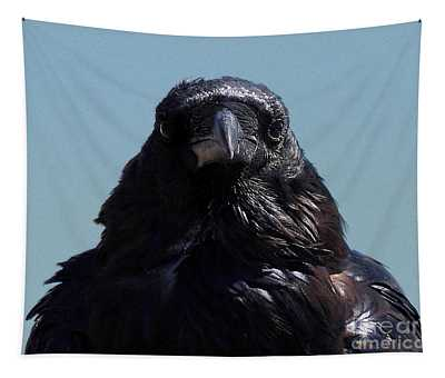 Portrait Of A Raven Tapestry