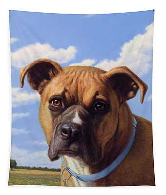 Portrait Of A Sweet Boxer Tapestry