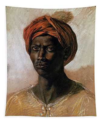Portrait Of A Turk In A Turban Tapestry