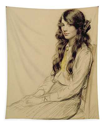 Portrait Of A Young Girl Tapestry