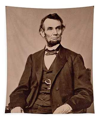 Portrait Of Abraham Lincoln Tapestry