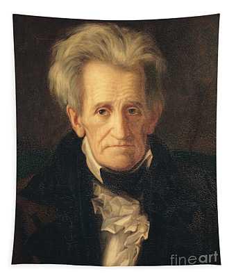 Portrait Of Andrew Jackson Tapestry
