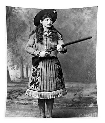 Portrait Of Annie Oakley Tapestry