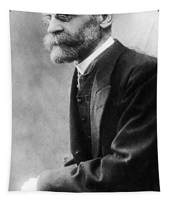 Portrait Of Emile Durkheim Tapestry