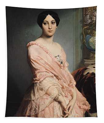 Portrait Of Madame F Tapestry