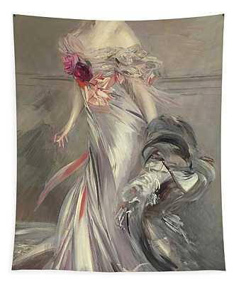 Portrait Of Marthe Regnier Tapestry