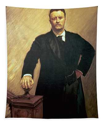 Portrait Of Theodore Roosevelt Tapestry